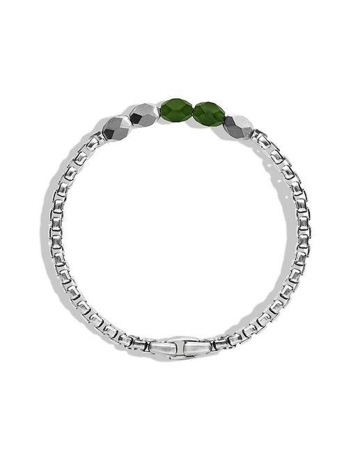 David Yurman | Metallic Faceted Metal Bead Bracelet With Jade for Men | Lyst