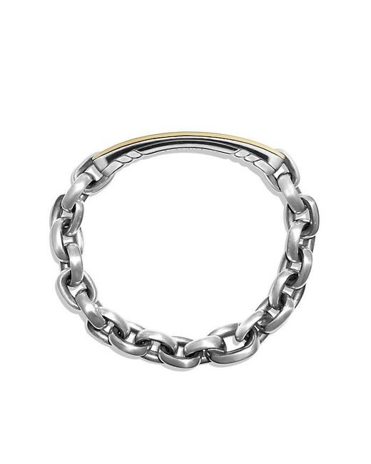 David Yurman | Metallic Streamline Id Bracelet With 18k Gold for Men | Lyst