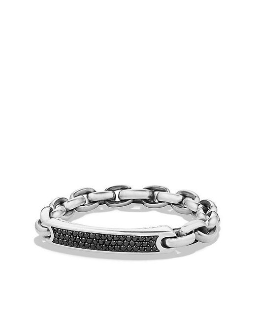 David Yurman | Metallic Streamline Id Bracelet With Black Diamonds for Men | Lyst