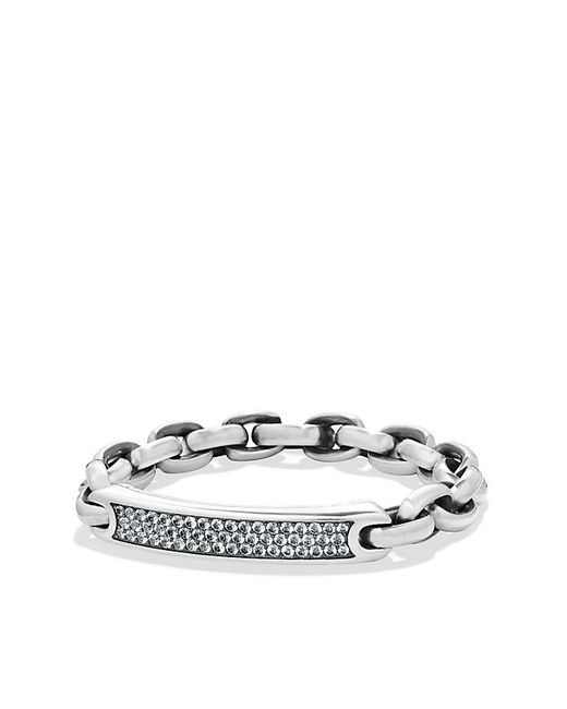David Yurman | Metallic Streamline Id Bracelet With Gray Sapphire for Men | Lyst