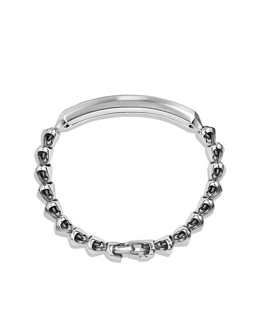 David Yurman | Metallic Armory Single Row Id Bracelet With 18k Gold | Lyst