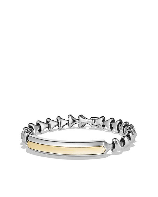 David Yurman | Metallic Armory Single Row Id Bracelet With 18k Gold | Lyst