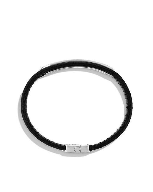 David Yurman | Graphic Cable Leather Id Bracelet In Black for Men | Lyst
