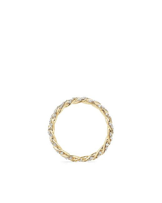 David Yurman | Metallic Paveflex Ring With Diamonds In 18k Gold, 2.7mm | Lyst