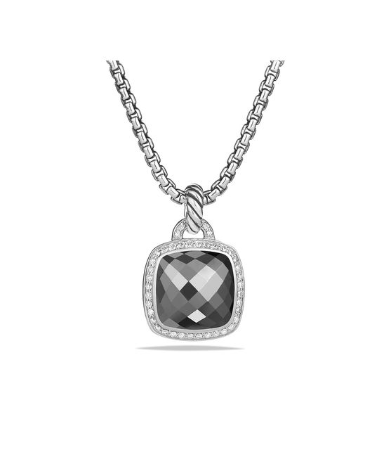 David Yurman - Metallic Albion® Pendant With Hematine And Diamonds, 14mm - Lyst