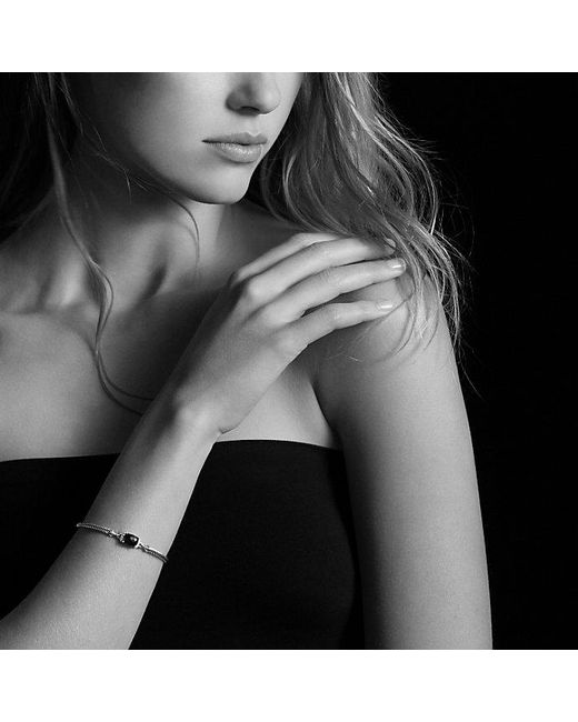 David Yurman - Petite Wheaton Bracelet With Black Onyx And Diamonds - Lyst