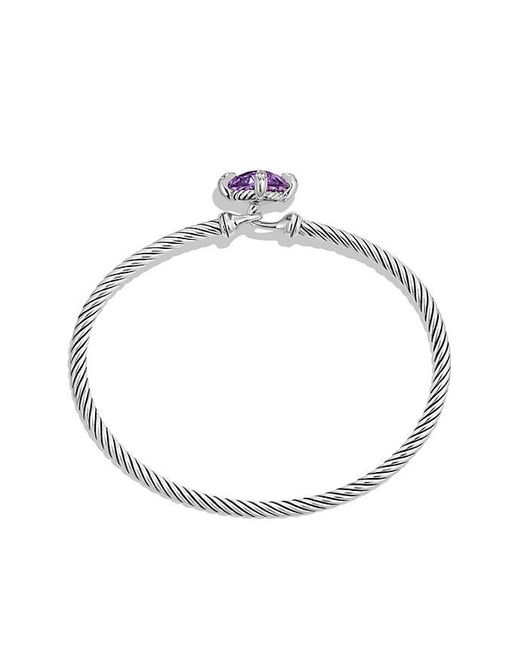 David Yurman | Metallic Chatelaine® Bracelet With Amethyst And Diamonds, 9mm | Lyst