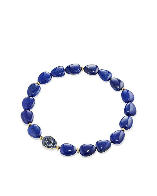 David Yurman | Delta Bead Necklace With Lapis Lazuli, Blue And Gray Sapphire And 18k Gold | Lyst