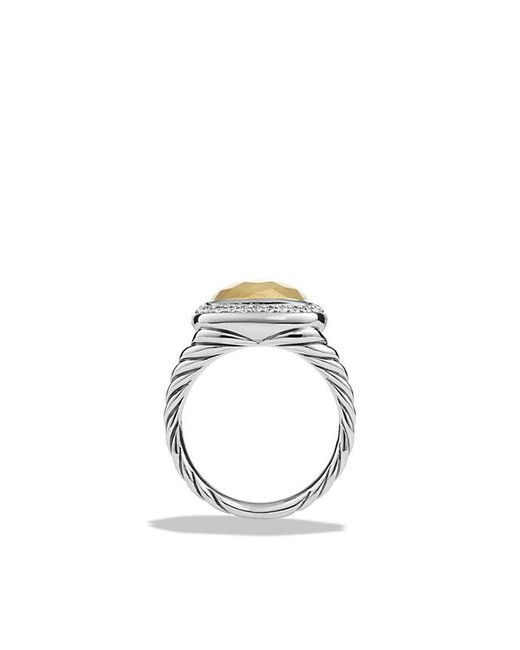 David Yurman - Metallic Albion® Ring With Diamonds And 18k Gold - Lyst