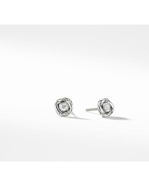 David Yurman - Metallic Infinity Earrings With Diamonds - Lyst