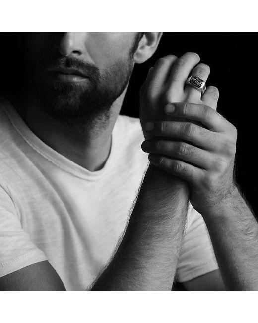David Yurman   Gray Heirloom Streamline Signet Ring With Jade for Men   Lyst
