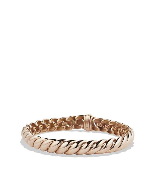 David Yurman | Pink Hampton Cable Bracelet In 18k Rose Gold, 8.5mm | Lyst