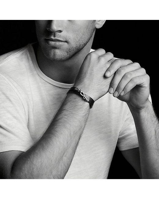 David Yurman | Chevron Double Wrap Leather Bracelet In Green for Men | Lyst