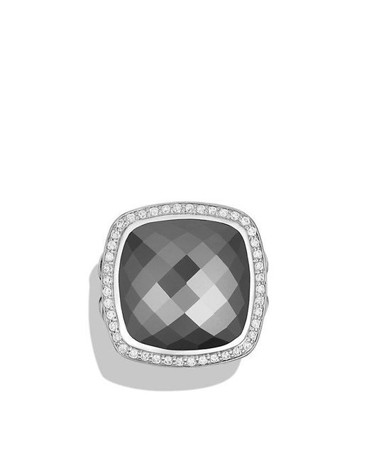 David Yurman - Multicolor Albion® Ring With Hematine And Diamonds, 17mm - Lyst