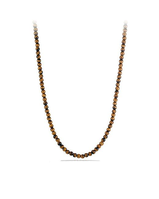 David Yurman - Brown Spiritual Bead Necklace With Tiger's Eye for Men - Lyst