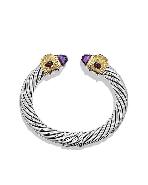 David Yurman | Metallic Renaissance Bracelet With Amethyst, Iolite, And 14k Gold, 10mm | Lyst