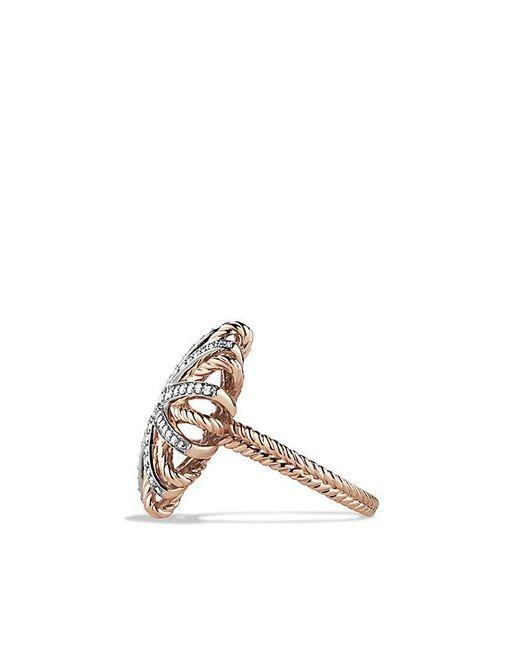 David Yurman - Pink Starburst Ring With Diamonds In 18k Rose Gold - Lyst