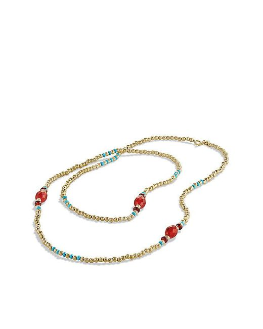 David Yurman | Dy Signature Bead Necklace With Hematine And Black Spinels In 18k Gold | Lyst