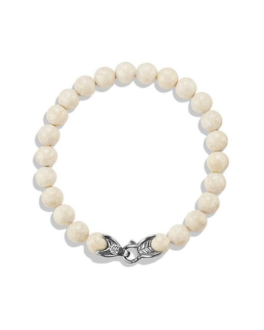 David Yurman - Metallic Spiritual Beads Bracelet With River Stone, 8mm for Men - Lyst