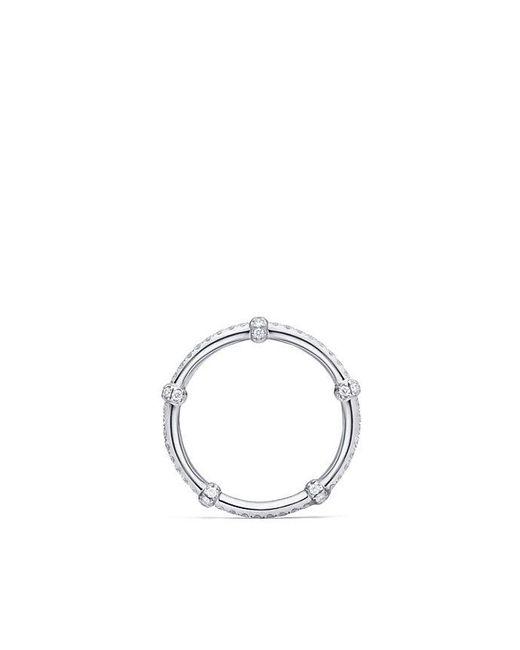 David Yurman - Metallic Dy Astor Single Row All Pavé Wrap Band With Diamonds In Platinum - Lyst
