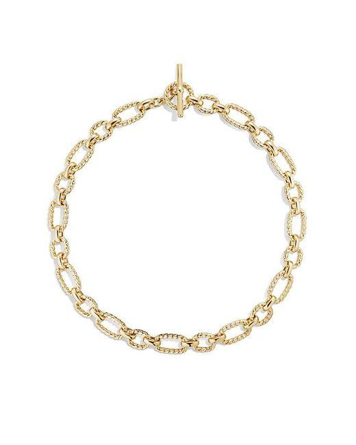 David Yurman - Metallic Cushion Link Necklace With Diamonds In 18k Gold, 12.5mm - Lyst