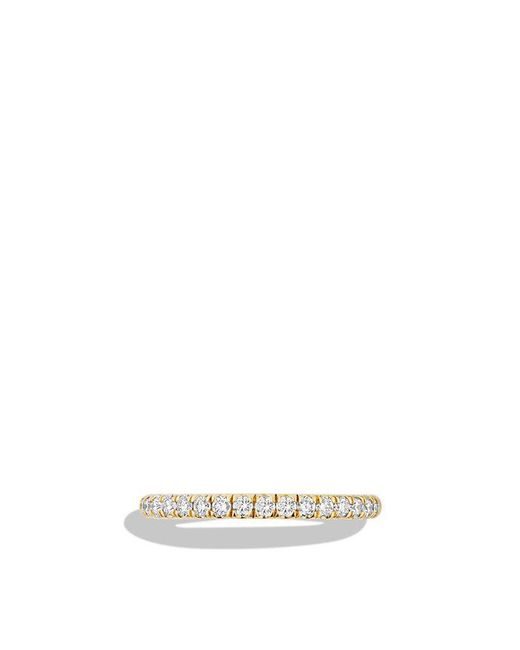 David Yurman | White Cable Collectibles Ring With Diamonds In 18k Gold | Lyst