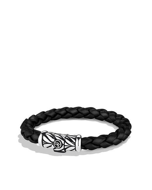 David Yurman - Chevron Rubber Weave Bracelet In Black, 8mm for Men - Lyst