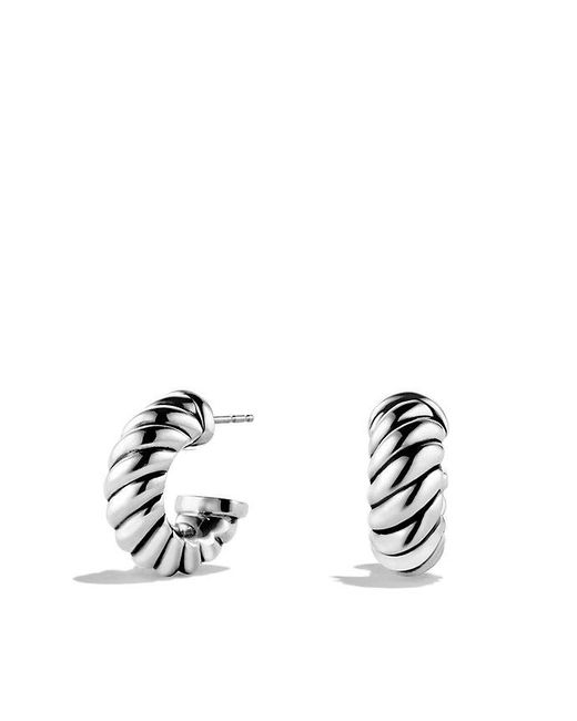 David Yurman - Metallic Cable Classics Earrings - Lyst