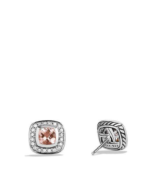 David Yurman - Metallic Petite Albion® Earrings With Morganite And Diamonds - Lyst