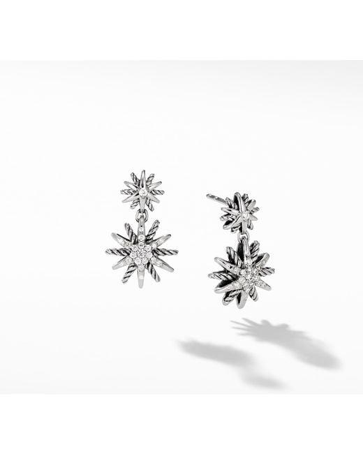 David Yurman - Multicolor Starburst Double-drop Earrings With Diamonds - Lyst