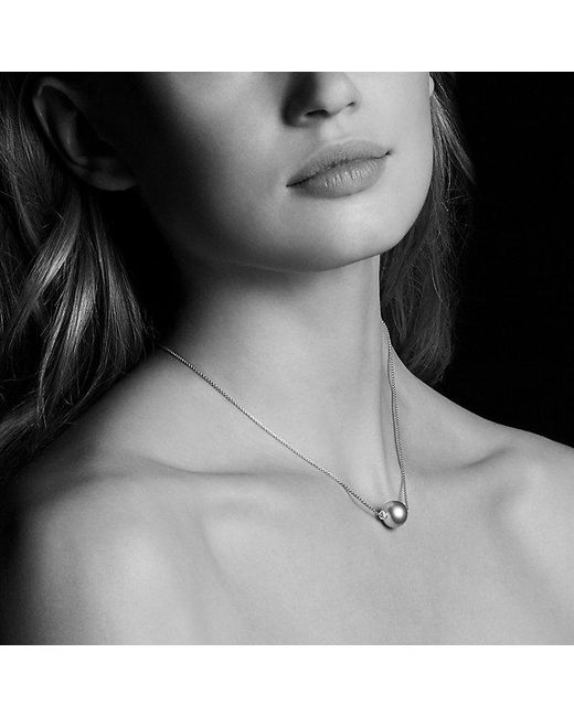 David Yurman | Gray Solari Single Station Necklace In 18k Gold With Diamonds And Tahitian Grey Pearl | Lyst