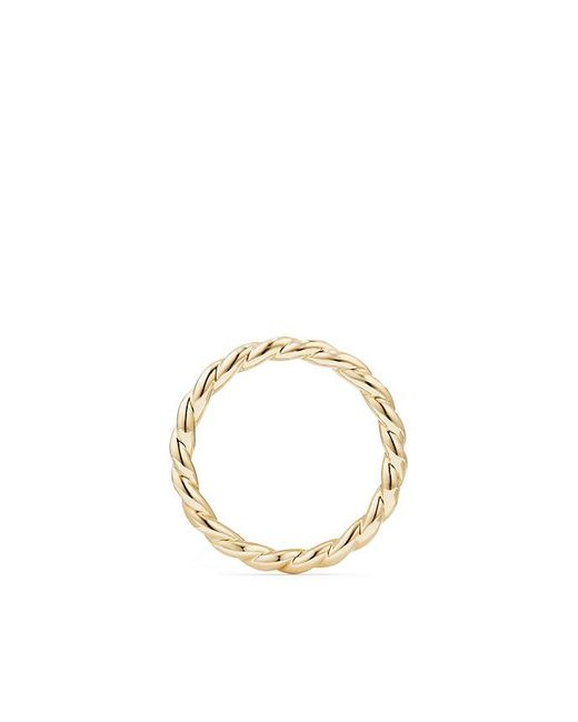 David Yurman - Metallic Paveflex Ring In 18k Gold, 2.7mm - Lyst