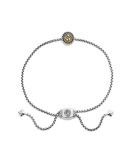 David Yurman - Metallic Petite Pave Bracelet With Yellow Sapphire - Lyst