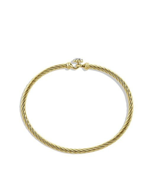 David Yurman | Metallic Cable Collectibles Heart Bracelet In 18k Gold, 3mm | Lyst