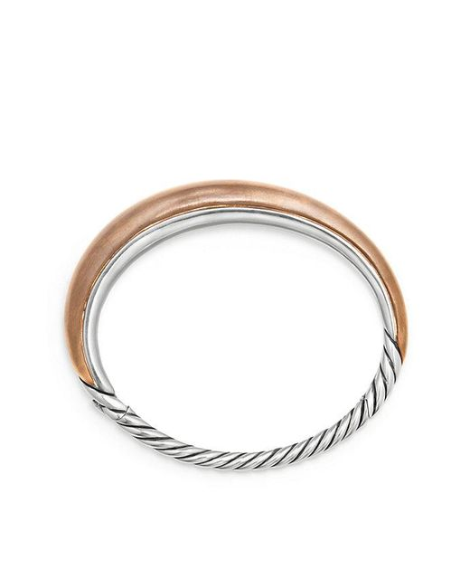 David Yurman | Metallic Pure Form® Mixed Metal Smooth Bracelet With Bronze And Silver, 9.5mm | Lyst