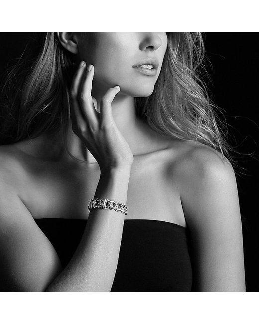 David Yurman | Metallic Buckle Bracelet In Silver And 14k Gold, 14mm | Lyst