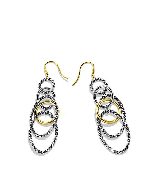 David Yurman | Metallic Mobile Chain Earrings With 18k Gold | Lyst