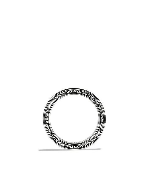 David Yurman | Streamline Three-row Band Ring With Black Diamonds for Men | Lyst