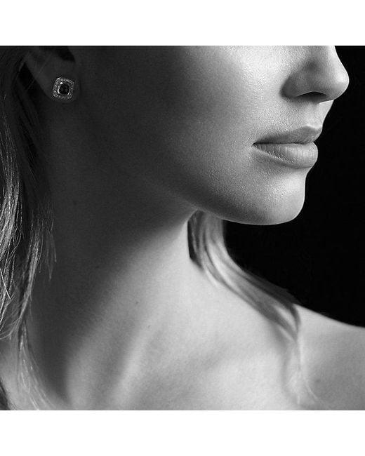 David Yurman | Metallic Petite Albion Earrings With Garnet And Diamonds | Lyst