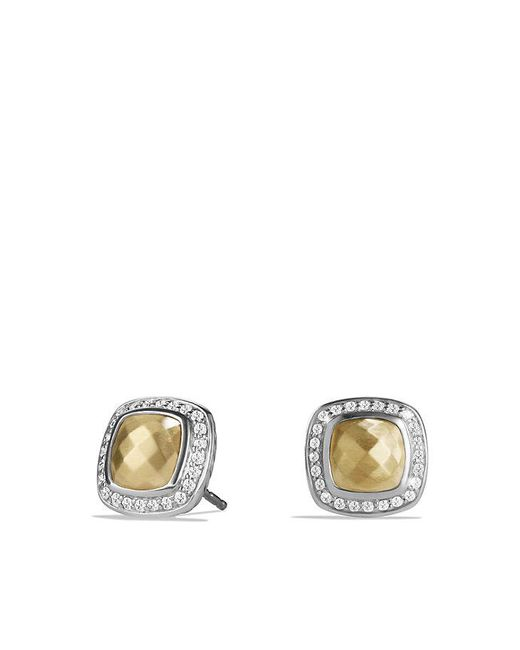 David Yurman | Metallic Albion® Earring With Diamonds And 18k Gold | Lyst