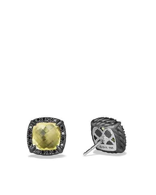 David Yurman | Yellow Châtelaine Stud Earrings With Lemon Citrine And Black Diamonds | Lyst