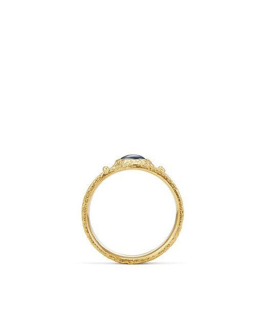 David Yurman - Metallic Shipwreck Single Stone Band Ring With Sapphires In 22k Gold for Men - Lyst
