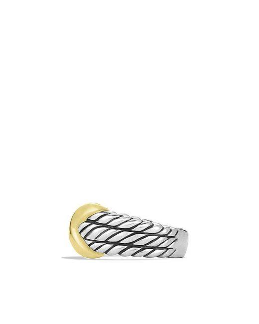 David Yurman | Metallic X Triple-row Ring With 14k Gold | Lyst