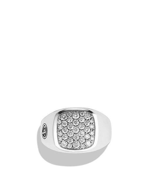 David Yurman | Metallic Exotic Stone Signet Ring With Diamonds for Men | Lyst