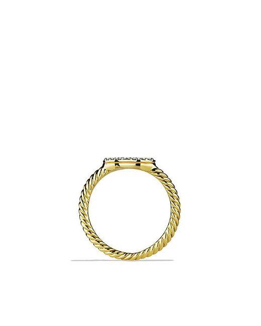 18kt yellow gold Cable Collectibles Cable diamond stack ring - Metallic David Yurman DXaH7anyIh