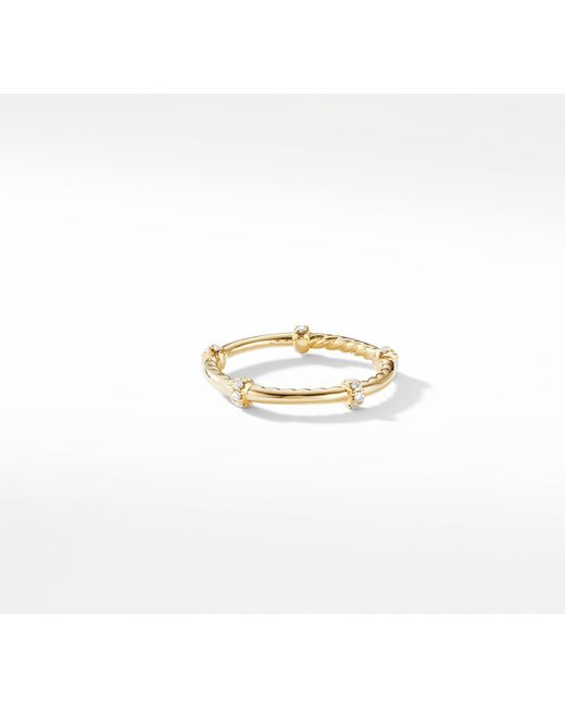 David Yurman - Metallic Dy Astor Single Row Pavé Wrap Band With Diamonds In 18k Gold - Lyst