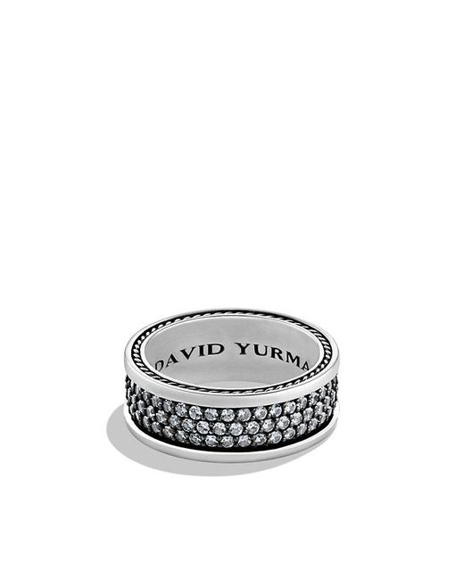 David Yurman | Metallic Streamline Three-row Band Ring With Gray Sapphires | Lyst