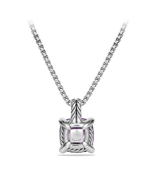 David Yurman - Purple Châtelaine Pendant Necklace With Amethyst And Diamonds, 11mm - Lyst