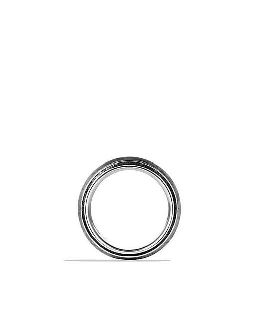 David Yurman | Black Meteorite Knife-edge Band Ring for Men | Lyst