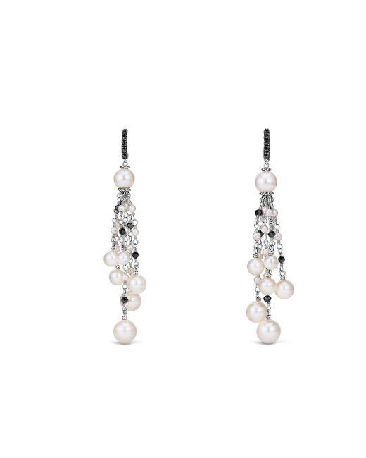David Yurman - Metallic Oceanica Fringe Earrings With Pearls And Black Spinel - Lyst